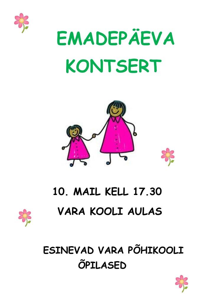 Emadepäeva kontsert Varal